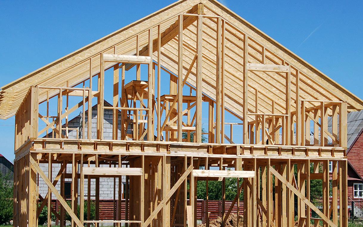 Строительство большого каркасного дома своими руками